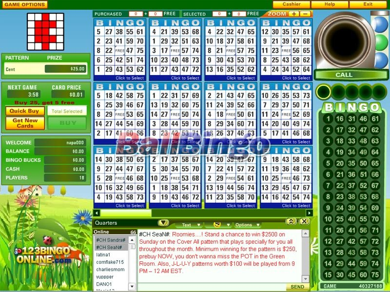 123 Bingo games