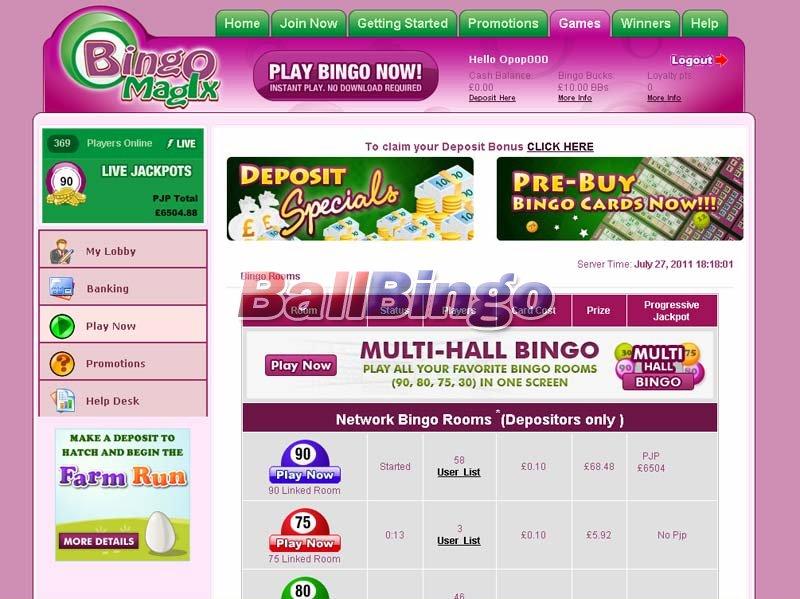 Bingo Magix online