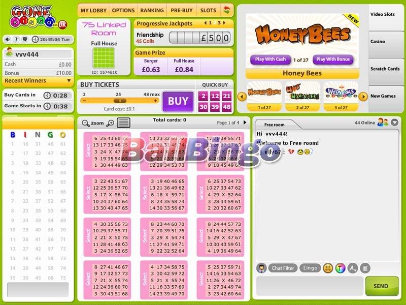 Gone Bingo 75