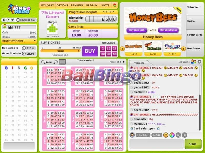Bingo Hero 75