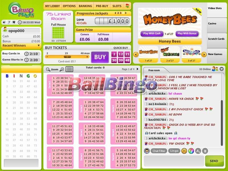 Bingo Magix rooms
