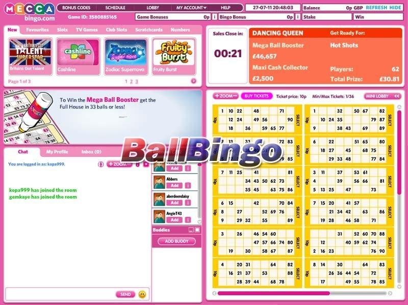 Mecca Bingo bonuses