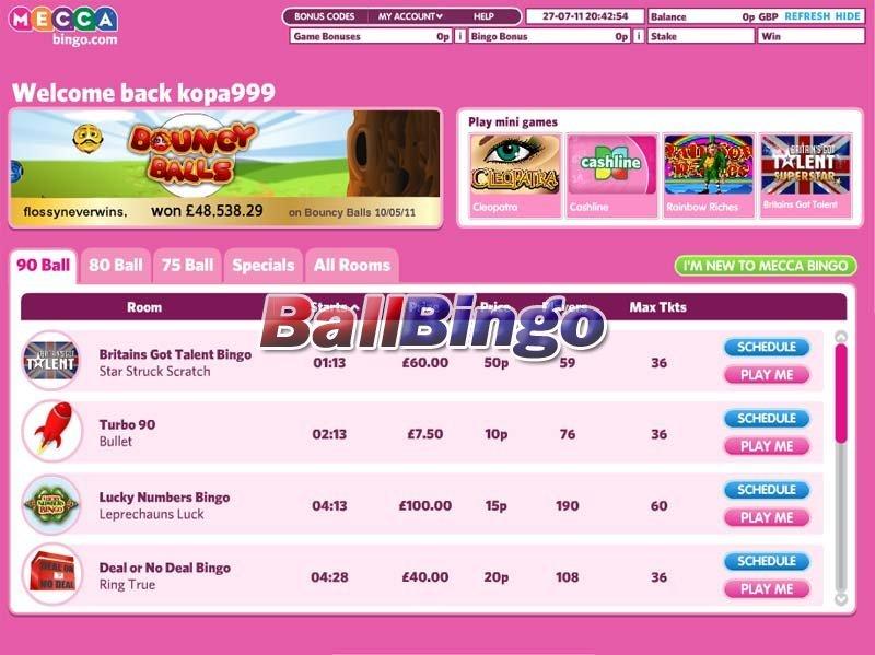 Mecca Bingo lobby