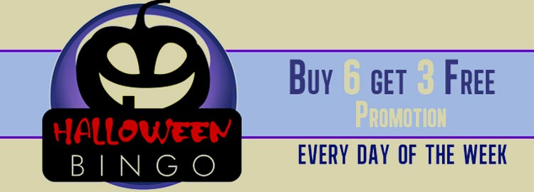 Bingo Fest is offering a Buy 6 Get 3 Free promotion for Bingo Cards purchased