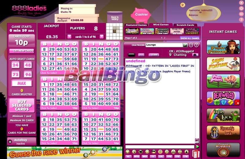 888 Ladies Bingo 75