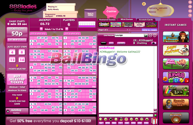 888 Ladies Bingo 90