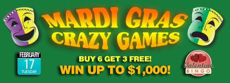 Mardi Gras Crazy Bingo Games