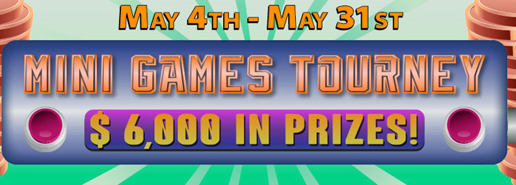 There's $6,000 in fantastic prizes to be won this month in Bingo Fest action packed Mini Games