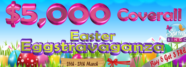 Spring Bingo Tourney and Easter Weekend EGGstravaganza