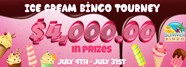 Ice-cream Bingo Tourney