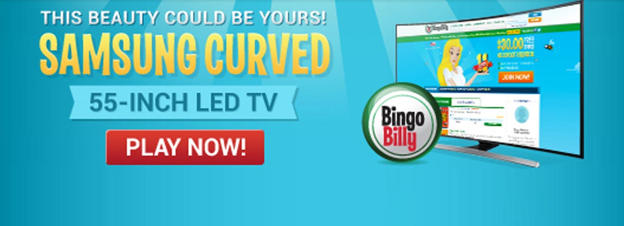 Seeing is Believing with Bingo Billy's Black Weekend Samsung TV Giveaway