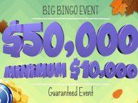 $50,000 coverall min $10,000 Guaranteed Event