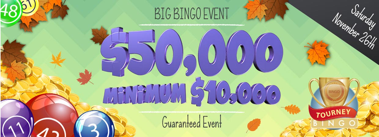 $50,000 coverall min $10,000 Guaranteed Event