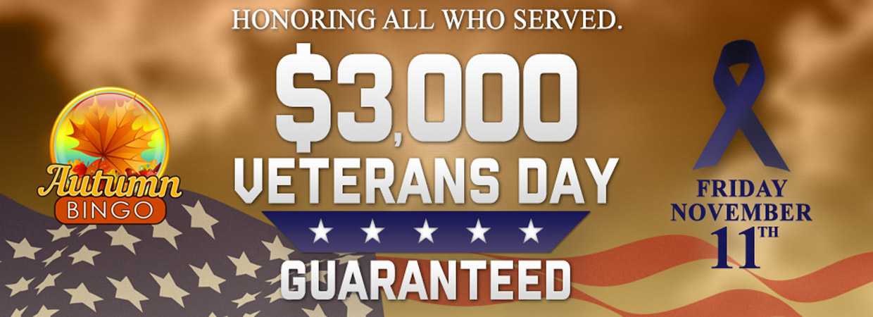 $3,000 Veteran's Day Guaranteed