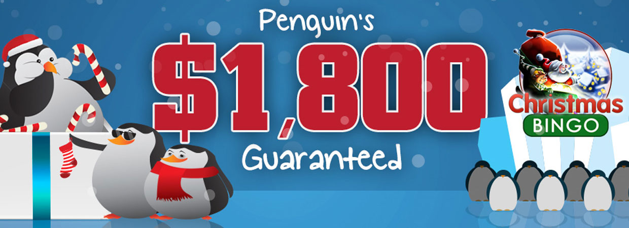 $1,800 Guaranteed Penguins Special Penguin Bingo