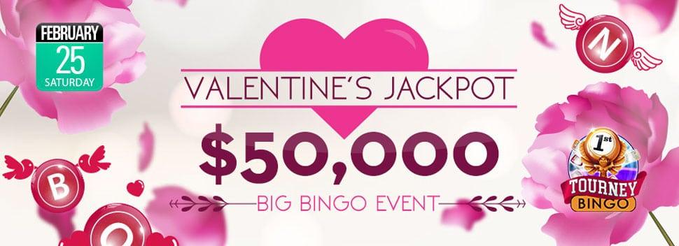 Valentine's Jackpot Huge Cash Prizes