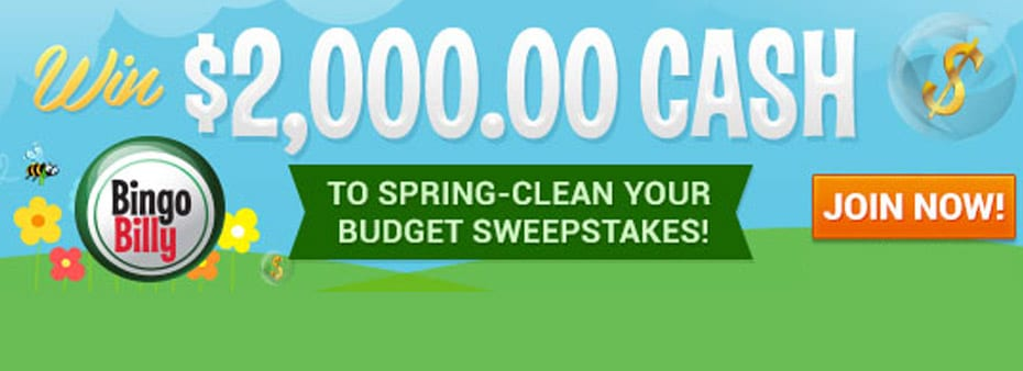 Clean up in the $2,000 Spring-Clean your Budget Sweepstakes
