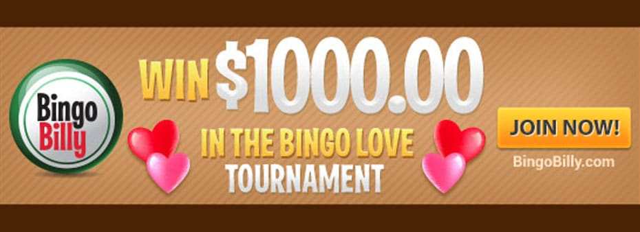 3-day $1,000 Bingo Love Tournament