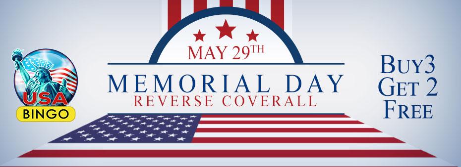 Memorial Day Reverse Bingo Coverall