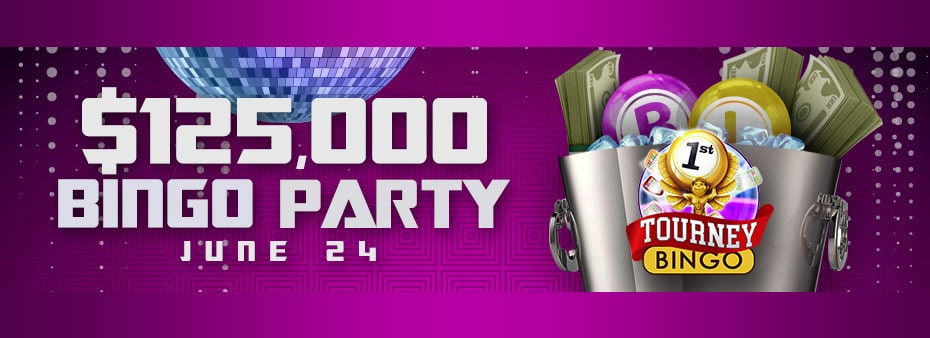 $125,000 Cyber Bingo Party Saturday June 24th