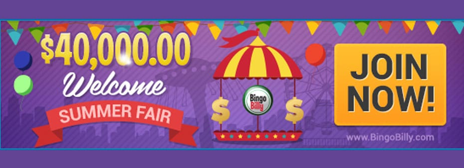 Big Thrills on the Docket with Bingo Billy's $40,000 Summer Fair