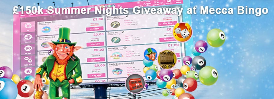 £150k Summer Nights Giveaway at Mecca Bingo