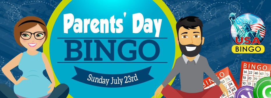 Mix up the bingo fun on Parents' Day at CyberBingo