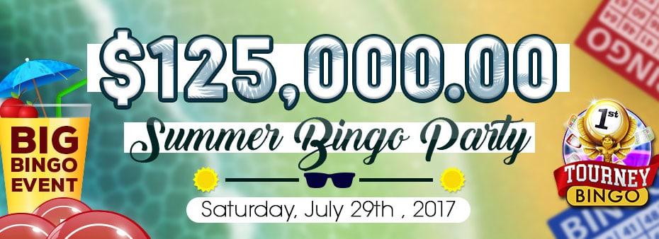 Summer Bingo Party – $125.000 at Bingo Spirit