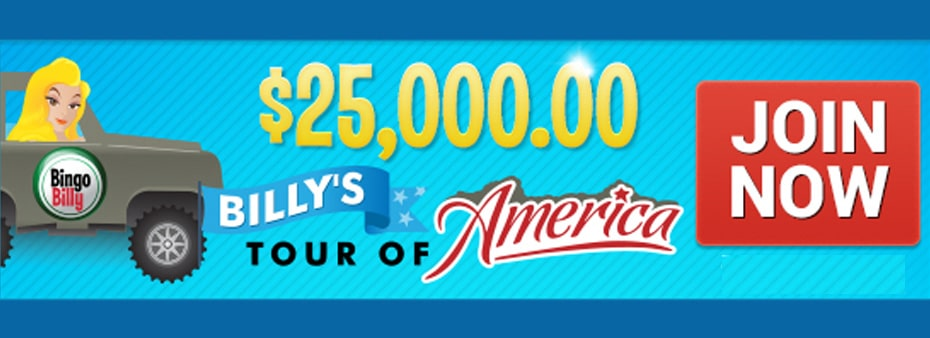 BingoBilly fuels its Tour of America with $25,000 in Prizes