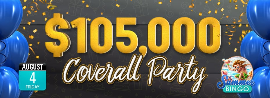$105,000 Coverall Cyber Bingo Birthday Party