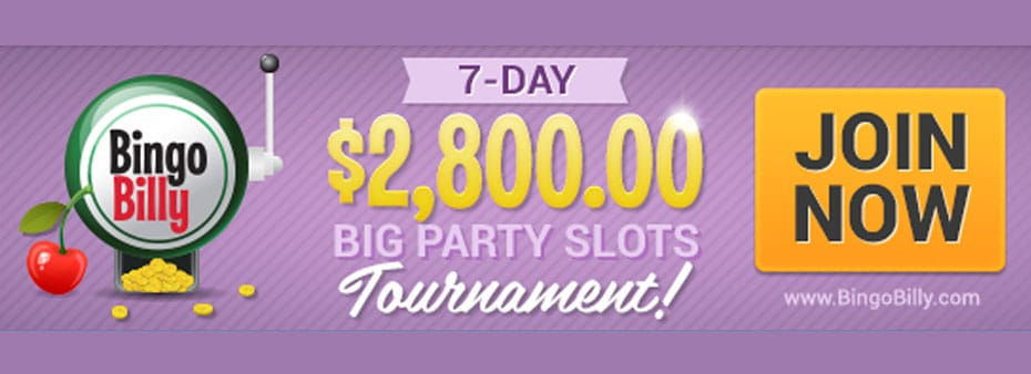 $2,800 7-day Big Party Slots Tournament