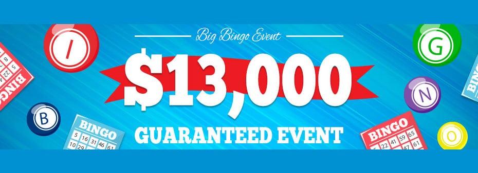 Mega Cash Prizes at Cyber Bingo – $13,000 Guaranteed Event