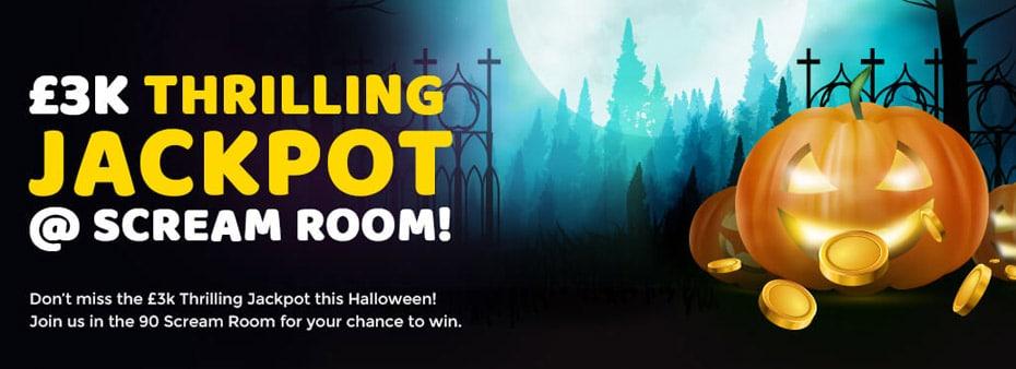 £3K Thrilling Halloween Jackpot at Gone Bingo