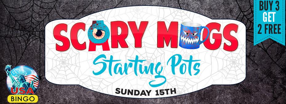 Scary Mugs Starting Pots Scary Bingo
