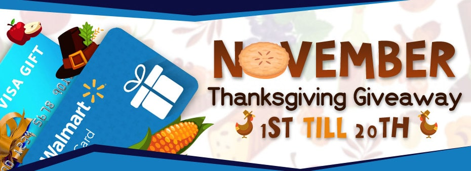 Thanksgiving Giveaway Bingo – Win for Free