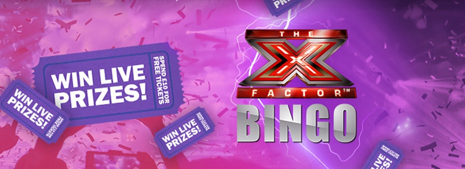 Bonanza bingo with incredible The X Factor and TV themed prizes
