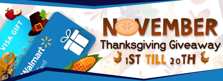 Thanksgiving Bingo Giveaway Win for Free