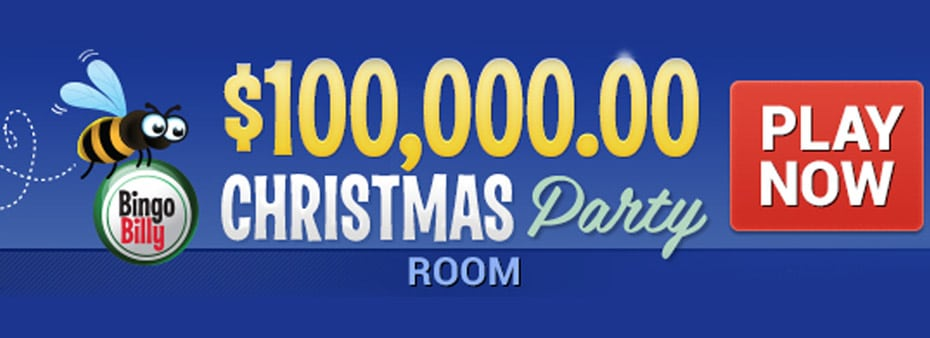 The Holidays Start Early at BingoBilly with $100,000 Christmas Party Room