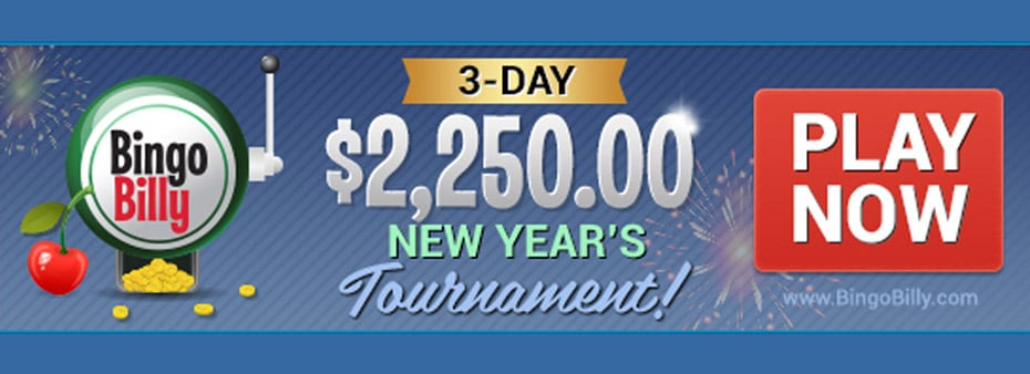 BingoBilly celebrates New Year's Eve With 3-Day Slots Tournament
