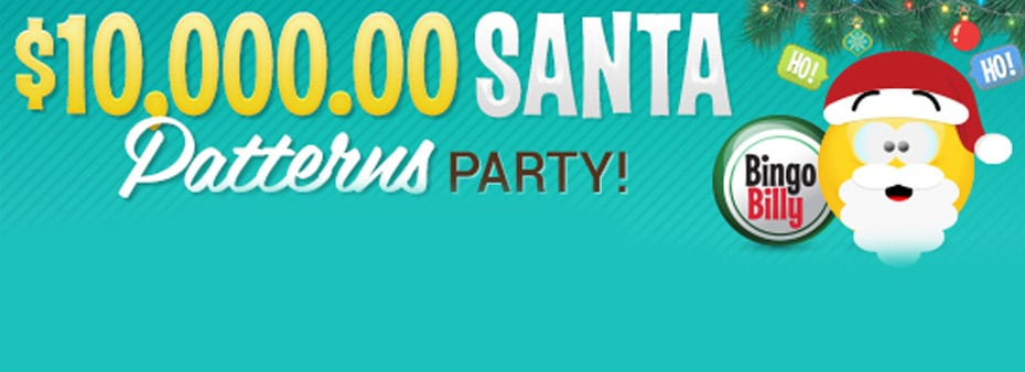 $10,000.00 Santa Patterns Party throughout December