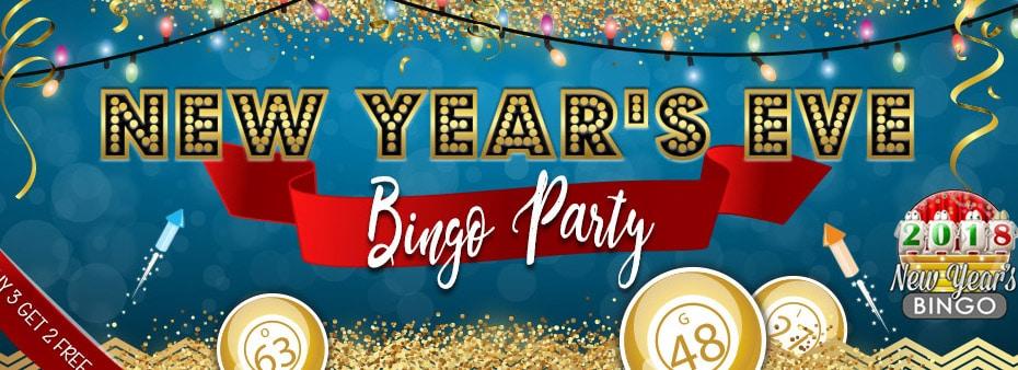 New Year's Eve Bingo Party Bingo Countdown