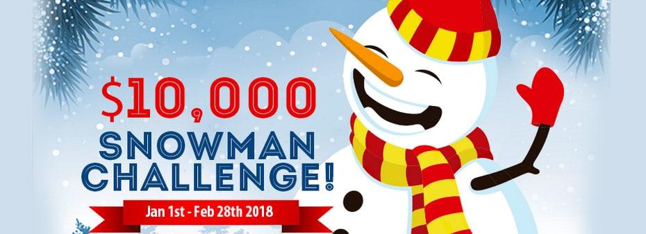$10.000 Snowman Challenge at Canadian Dollar Bingo