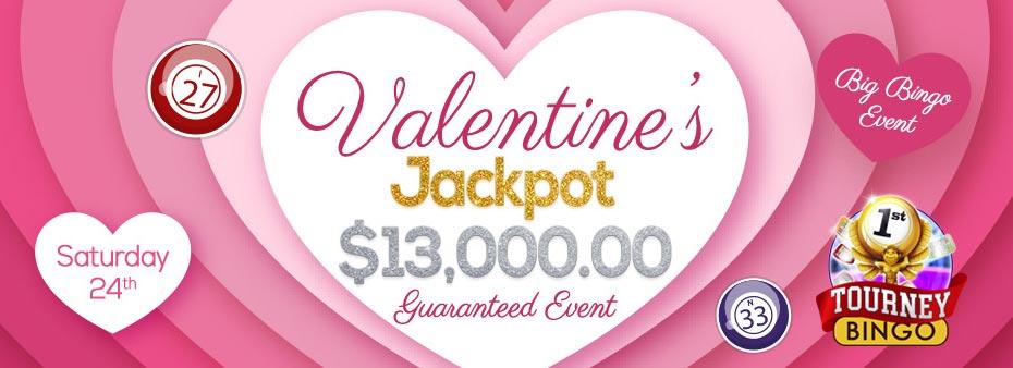 Valentine's Jackpot $13,000 Guaranteed Bingo Fest Event
