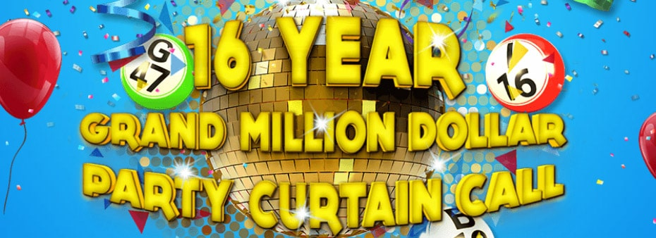 16-Year Grand Million Dollar Party SouthBeach Bingo