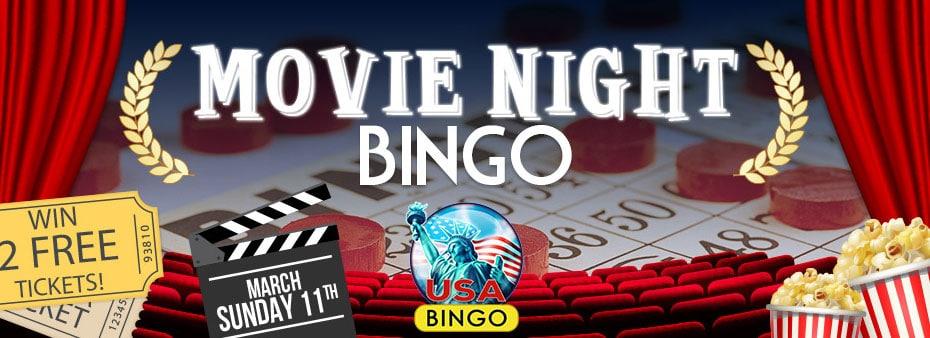 Movie bingo night – chance to win free movie tickets