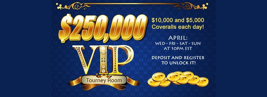 $250,000 VIP Tourney Room – Play exclusive bingo