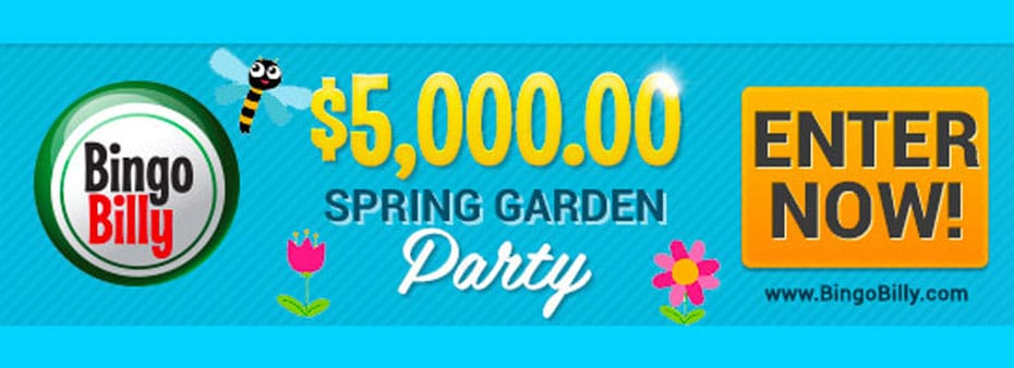 $5,000 Spring Garden Party at BingoBilly