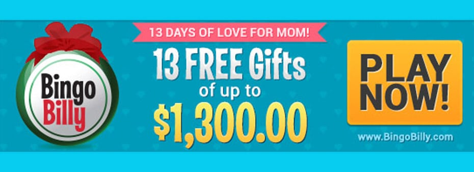 13 Days of Love for Mom promotion from May 1st to 13th