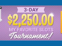 3-Day My Favorite Slots Tournament featuring $2,250 in prizes
