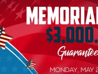 Celebrate Memorial Day with $3,000 of guaranteed cash prizes